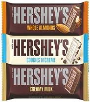 Hershey's Creamy Milk, Whole Almonds & Cookies n Crème Chocolate Bar, 100g (Pa