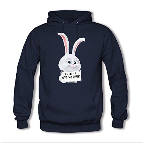 HGLee Printed Personalized Custom Art rabbit Women's Sweatshirts Hooded Hoodies Navy--3