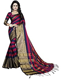 Ecolors Fab Women's Cotton Silk Sarees Women Latest Design With Blouse Piece