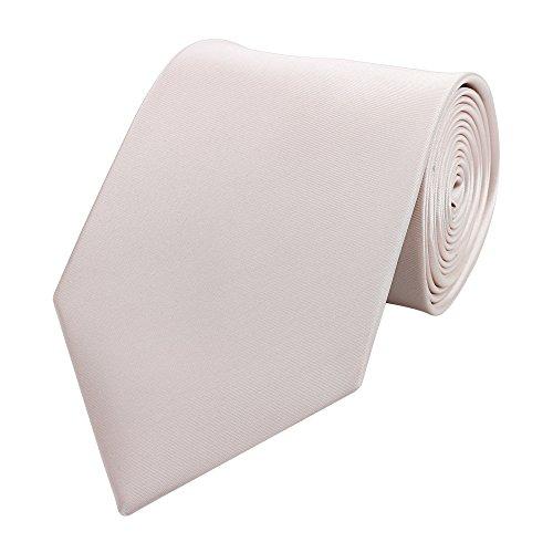Fabio Farini elegante 8 cm Krawatte, altrosa, Hochzeit, Abschlussball, Anzug, Smoking