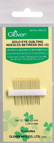 Clover Gold Eye Quilting Between Needles-Size 12 15/Pkg