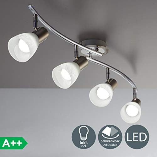 LED Decken-Strahler I 4-flammig I drehbar I schwenkbar I inkl. 4x 5 W LED Leuchtmittel l Decken-Lampe I E14 I IP20 -