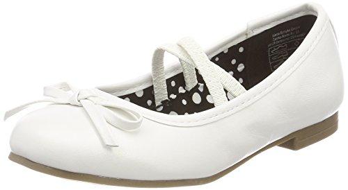 Indigo Schuhe Mädchen 422 283 Geschlossene Ballerinas, Weiß (White), 34 EU