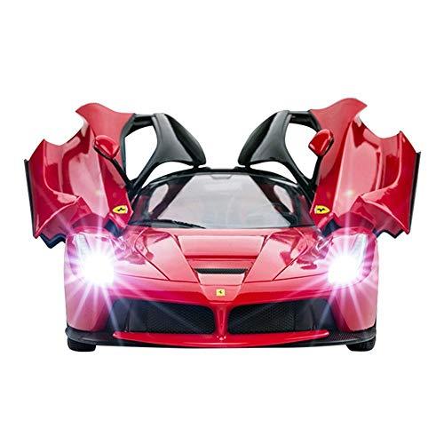 PETRLOY High-Speed-Rennwagen 1:14 Vier-Kanal-Fernbedienung Spielzeug-RC-Fahrzeug 30 km/h Drift-Radio Gelbes Modell RC-Fi-Modell für Jungen Mädchen Erwachsene Geschenk mit Lichtern und Controller Rot