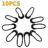 10Pcs schwarz 6cm Ersatz Reißverschluss Zipper Tags Reparatur Zip für Rucksack Kleidung Reißverschluss Fixer Outdoor Camping Reisen