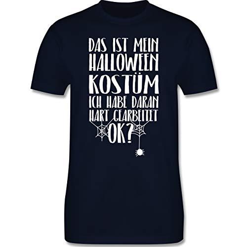 Halloween - Das ist Mein Halloween Kostüm - XL - Navy Blau - L190 - Herren T-Shirt Rundhals