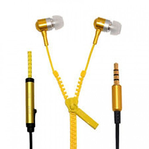 JYARA Stylish Zipper yellow tangle free Earphone especially design for Nokia X2-02  available at amazon for Rs.299