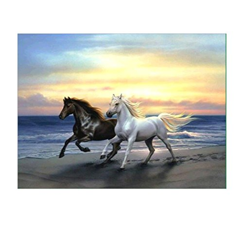 Diamond Painting , Janly® DIY 5D Horses Drill Wall Decor Inlaid Mosaic Embroidery Resin Craft Cross Stitch Kits
