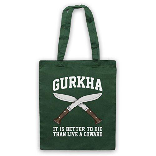 Gurkha Motto It Is Better To Die Than Live A Coward Umhangetaschen Dunkelgrun