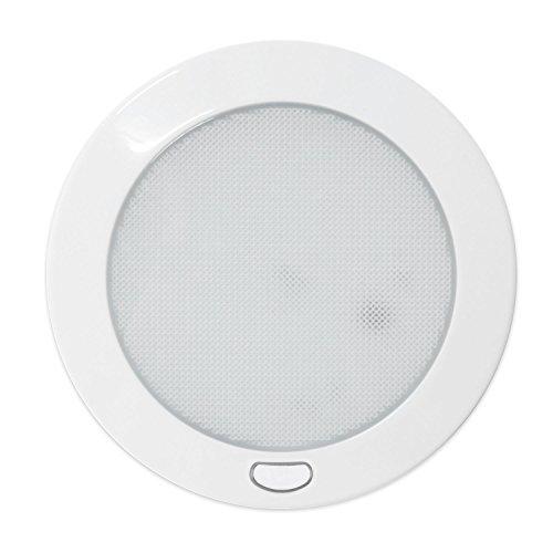 Dream Lighting 12V 127mm LED Deckenleuchte mit Schalter/Deckenlampe für Wohnwagen/Reisemobil/Wohnmobil, Warmweiß -