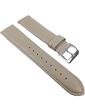 Minott Ersatzband Uhrenarmband Kalbnappa Band Grau 22586S, Stegbreite:15mm