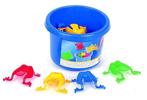 frosch-hupfspiel-springende-frosche-mit-eimer-12-frosche