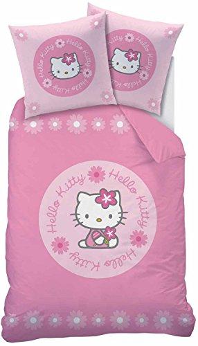 CTI Bettwäsche Hello Kitty Linon rosa Größe 135x200 cm (80x80 cm)