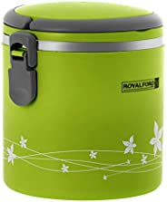 Royalford 1800ml Lunch Box – Leak Proof & Airtight Lid Food Storage Container – High Quality Stainless Ste