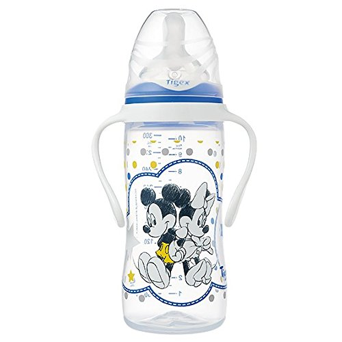 Tigex Mickey - Biberón irrompible 300 ml silicona + 6 meses