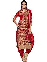 Mordenfab Red Heavy Embroidered Suits For Women Indo-Western For Party Wedding Wear Floor Length Gown/ Anarkali...