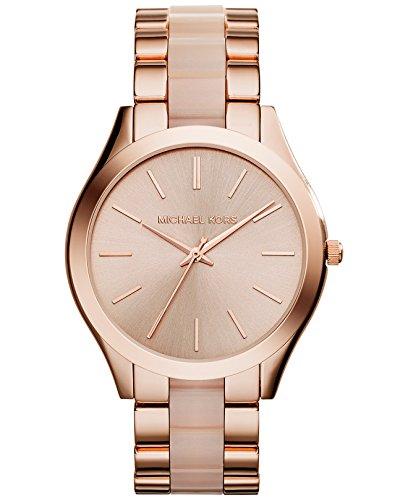 Michael Kors Damen Analog Quarz Uhr mit Edelstahl Armband MK4294