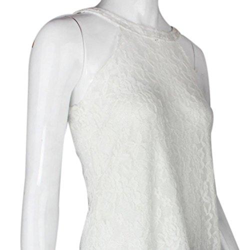 Blouse femme,Tonwalk Chemise sans manches décontractée pour femmes Summer Blouson Blanc