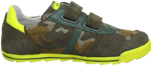 Geox J FORT A J3244A01022C3349 Jungen Sneaker Grün (CAMOUFLAGE/FLUOYELL C3349)