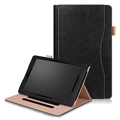 SOUNDMAE Hülle Für Fire HD 10 Tablet (7. Generation - 2017/5. Generation - 2015), Ultra Slim Schutzhülle mit Auto Schlaf/Wach und Ständer für Fire HD 10 (10-Zoll-Tablet, 7. Gen/5. Gen) - Schwarz