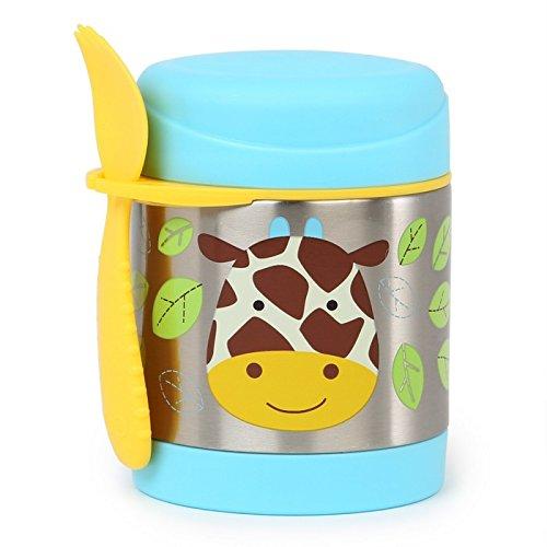 Skip Hop Aufbewahrungsbehälter, für Essen aus Edelstahl, isoliert, Giraffe Jules, mehrfarbig