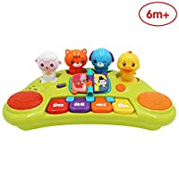 ANIKI TOYS Adorable animal keyboard player - Baby music piano drum educational toy 6 month and above