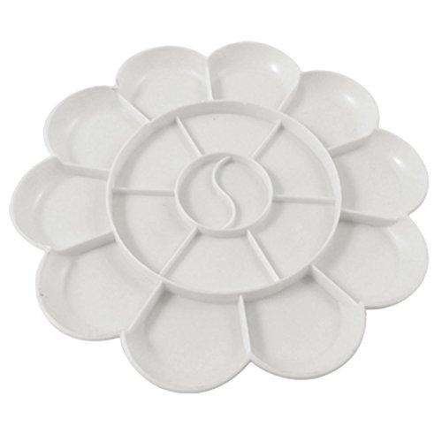Tavolozza in Plastica Bianca a 18 Scompartimenti per Acquerelli