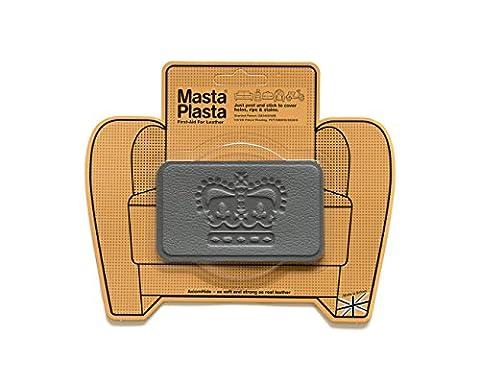 Grey MastaPlasta Self-Adhesive Leather Repair Patches. Choose size/design. First-aid for sofas, car seats, handbags, jackets etc. by MastaPlasta
