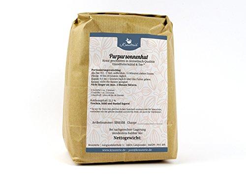 Krauterie Purpursonnenhut-Kraut in hochwertiger Qualität, frei von jeglichen Zusätzen, als Tee oder für Pferde und Hunde (Echinacea purpurea) - 500 g -