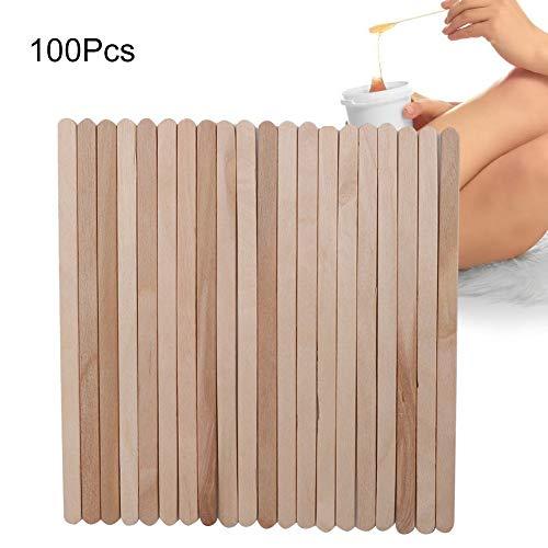 100 Stücke Wachs Spachteln Kleine Holz Wachs Applikator Sticks, Einweg Holz Enthaarungswachs Applikator Stick Spachtel Haarentfernungswerkzeuge -