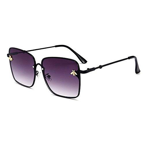 Yiph-Sunglass Sonnenbrillen Mode Persönlichkeit Biene Dekoration Sonnenbrillen für Frauen UV-Schutz für das Fahren von Ferien Sommer Strand (Farbe : C1)