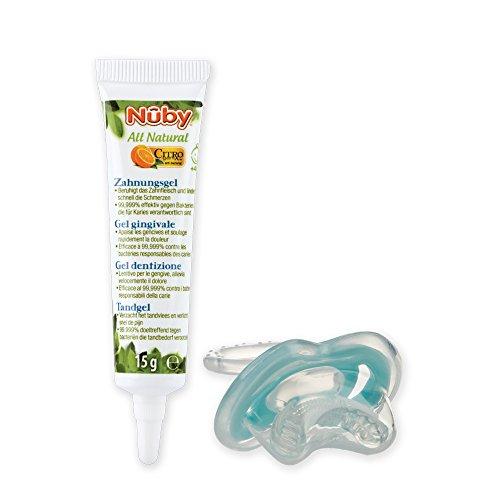 Nûby CG23015 All Natural Kombipack - Zahnungsgel und Zahnungshilfe