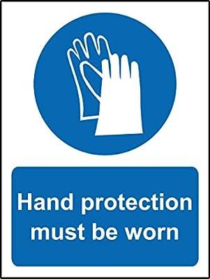 Gebotszeichen Hand Schutz zu tragen,–1,2mm starrer Kunststoff 200mm x 150mm