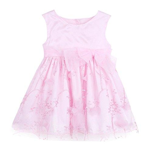 stlich Mädchen Taufkleid Baby Prinzessin Kleider Taufe Hochzeit Kleinkind Kleidung 3-24 Monate Rosa 92 (Kleid Kleinkind)