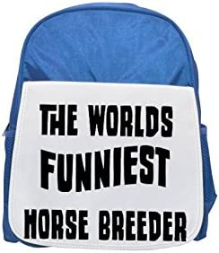 THE WORLD'S FUNNIEST Horse Breeder printed kid's Bleu  backpack, Cute backpacks, cute small backpacks, cute Noir  backpack, cool Noir  backpack, fashion backpacks, large fashion backpacks, Noir  fashio | Apparence Attrayante