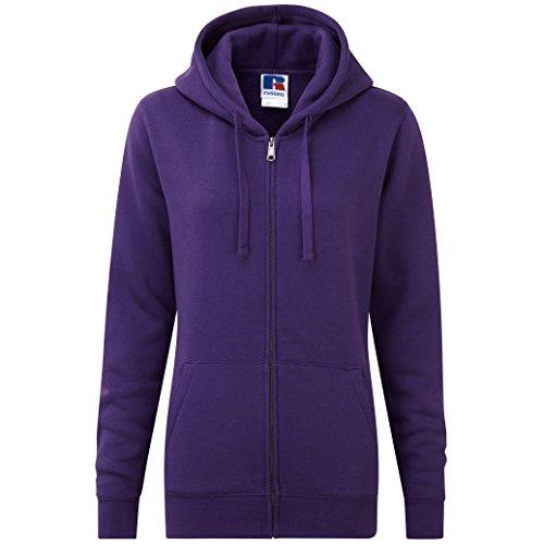 Authentique sweat à capuche zippé pour femme Violet