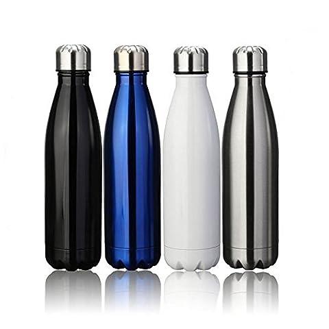 Thermobecher Doppelwandige Edelstahl Trinkflasche Thermosflasche Isolierte BPA Frei Wasserflasche 500 ml 12 Stunden Kalt & 24 Heiß Camping Reisebecher Sportflasche