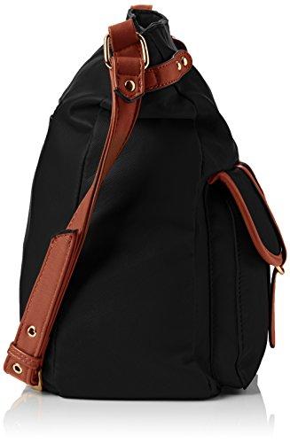 Swankyswans Gigi School Bag PU Leather Umhängetaschen Schwarz (Schwarz)