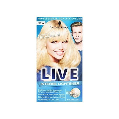 schwarzkopf xxl couleur live hd 00a platine absolue colorant les cheveux blonds permanente - Mousse Colorante Schwarzkopf