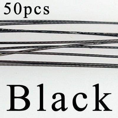 Line-snap (Marke neuen 50PCS Trace Angeln Stahldraht Leader Seil Angelschnur Lure Leader Wirbel Interlock Snap bissfest Line Angeln Haken)