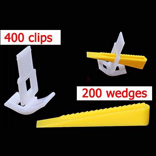 MAyouth Tile Leveling-System Clips Tile Leveling-System Locator Plier/Clips Wedges Boden Wand Plastic Spacers Kit