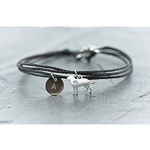 Armband Hund Edelstahl Gravur schwarz Größe wählbar