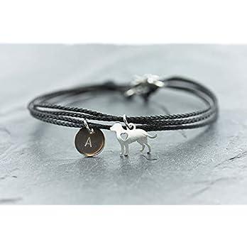 Armband Hund Edelstahl Segeltau Gravur vegan Freundschaftsamband personalisiert Wickelarmband Haustier