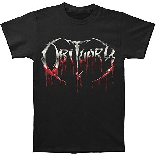 Obituary Men's Fashion Bloody Logo Black Cotton T-Shirt -