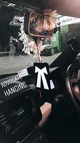 The Logo Man Advocate 3D Car Hanging Double Sided Rear View Mirror Car Hanging Black & White