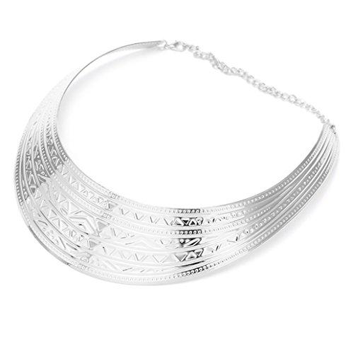 Dairyshop Il modello decorativo di modo ha placcato gli argenti d'argento dell'annata delle collane del Choker (dorato) argenteo