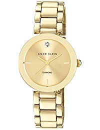 Reloj Cuarzo Anne Klein Para Mujer Con  Oro Analogico Y Oro Aleación AK/N1362CHGB