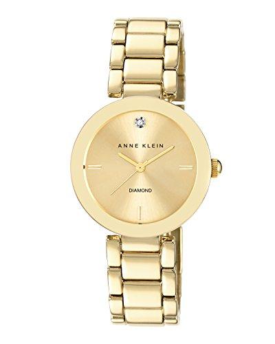 anne-klein-damen-quarzuhr-mit-gold-zifferblatt-analog-anzeige-und-gold-legierung-armband-ak-n1362chg