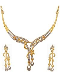 Necklace Set Designer Austrian Diamond Necklace Set-CNS9313 By Dg Jewels