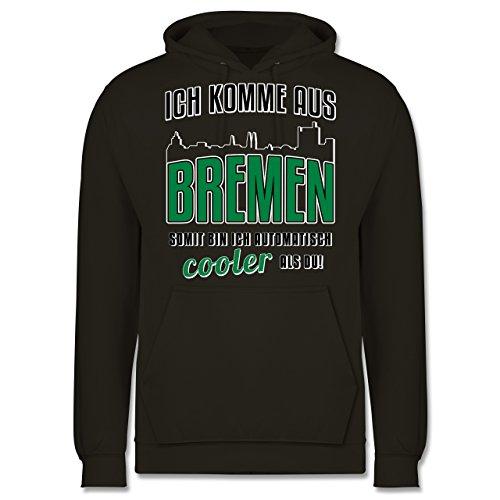Städte - Ich komme aus Bremen - Männer Premium Kapuzenpullover / Hoodie Olivgrün